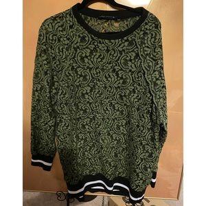 ZARA Green Lace Sporty Shirt/Dress